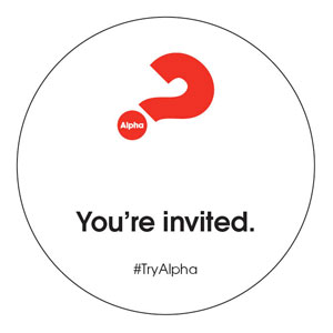 Alpha Youre Invited Circle InviteCards