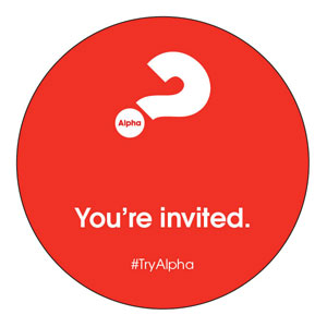 Alpha Youre Invited Red Circle InviteCards
