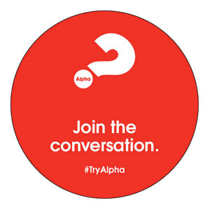 Alpha Join The Conversation Red Circle InviteCards