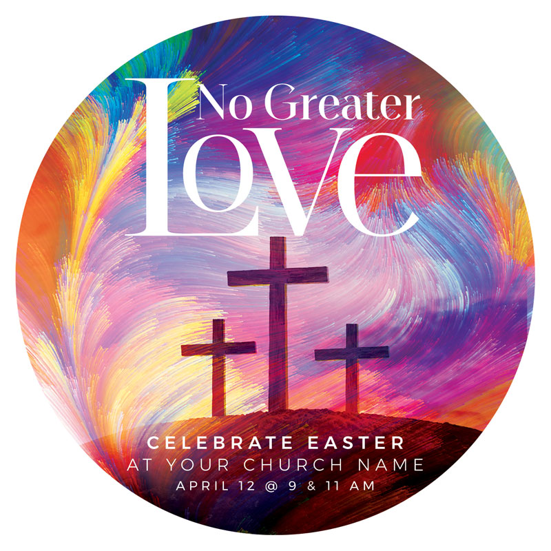 InviteCards, Easter, No Greater Love, 4 Circle
