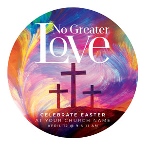 No Greater Love Circle InviteCards