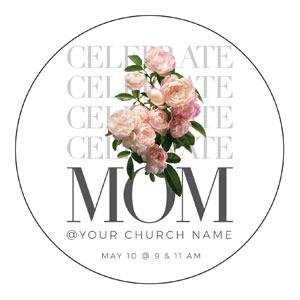 Celebrate Mom Flowers Circle InviteCards