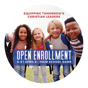 Kids Enroll Together Circle InviteCards
