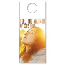 Feel The Warmth Door Hanger