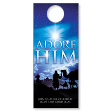 Adore Him Door Hanger