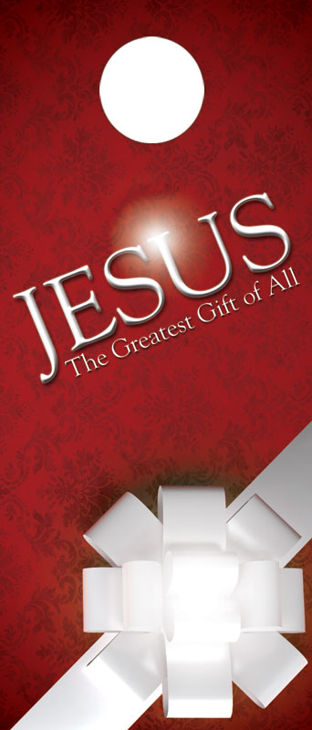 Jesus Greatest Gift Door Hanger Church Invitations