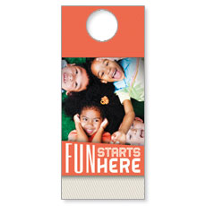 Fun Starts Here Door Hanger