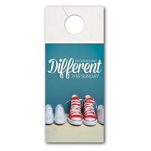 Different Shoes DoorHangers