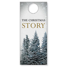 Christmas Story Trees Door Hanger