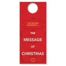 The Message of Christmas Door Hanger