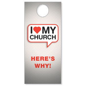 I Love My Church Door Hangers