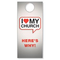 I Love My Church Door Hanger