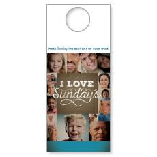 I Love Sundays Door Hanger