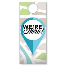 We Are Here Door Hanger