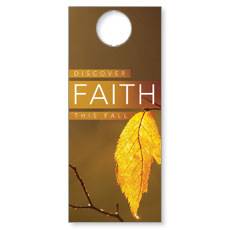 Fall Discover Faith Door Hanger