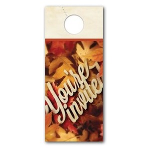 Invited Leaf Pile DoorHangers