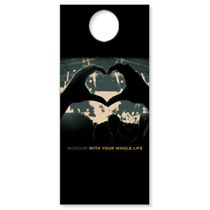 Worshiper Heart DoorHangers