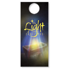 The Light of Christmas Door Hanger