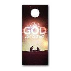 For God So Loved Nativity Door Hanger