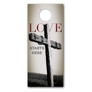 Love Starts Here Door Hangers