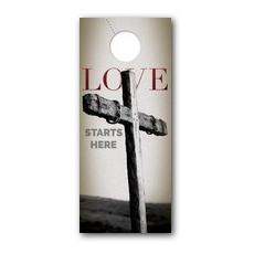 Love Starts Here Door Hanger
