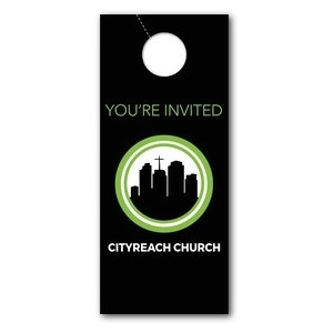 CityReach Black Door Hangers