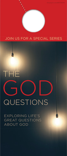 Door Hangers, New Years, God Questions, Standard size 3.625 x 8.5, with 3 per 8.5 x 11 sheet