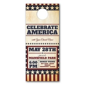 America Stars and Stripes Door Hangers
