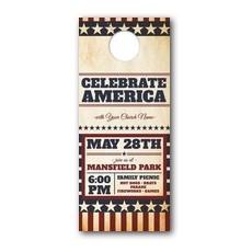 America Stars and Stripes Door Hanger