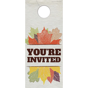 Stamped Leaves DoorHangers