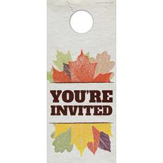 Stamped Leaves Door Hanger