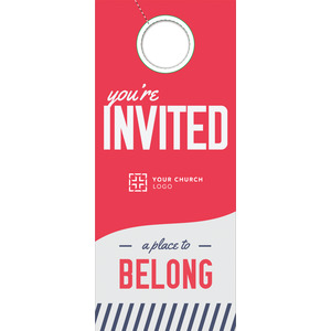 To Belong Red DoorHangers