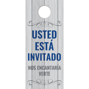 Painted Wood Welcome Spanish Door Hangers