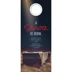 Savior Born Door Hanger