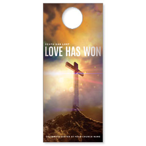 Love Has Won Door Hangers