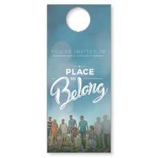 Back to Church Sunday: A Place to Belong Door Hanger