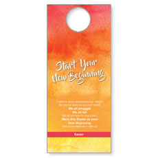 Big Invite New Beginning Door Hanger