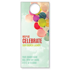 Balloons Celebrate Door Hanger