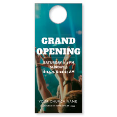 Grand Opening Crowd Door Hanger