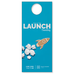 Paper Rocket Launch DoorHangers