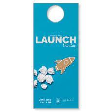 Paper Rocket Launch Door Hanger