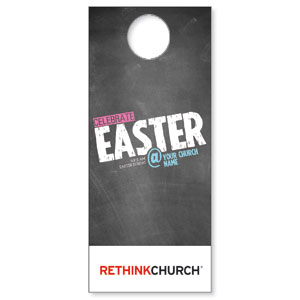 UMC Easter At Chalk Door Hangers