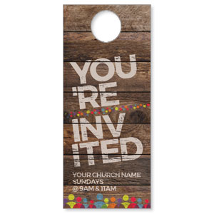 Shiplap Welcome Natural Door Hangers