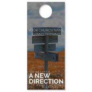 A New Direction Door Hangers