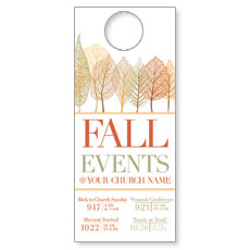 Fall Events Leaves Door Hanger