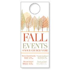 Fall Events Leaves Door Hanger
