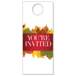 Leaves Youre Invited DoorHangers