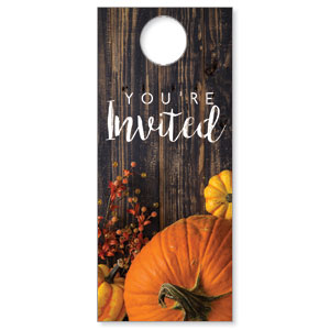 Pumpkins Youre Invited DoorHangers