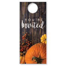 Pumpkins Youre Invited Door Hanger