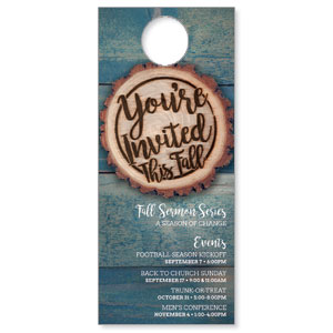 Wood Cut Fall Invited Door Hangers